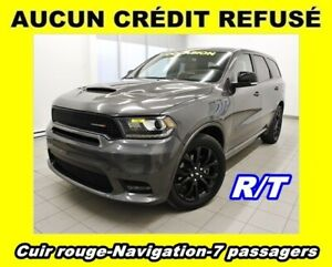2019 Dodge Durango R/T AWD 7 PASSAGERS NAVIGATION *CUIR ROUGE*