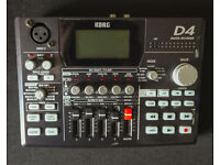 Korg D4 Digital Multi 4 Track recorder & Effects processor + Power Supply