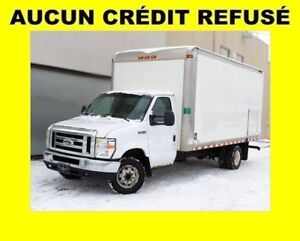 2008 Ford E-450 DIESEL POWERSTROKE CUBE 16 PI 6 ROUES