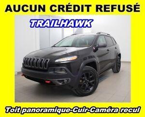 2016 Jeep Cherokee TRAILHAWK 4X4 CUIR CAMÉRA RECUL *TOIT PANORAM