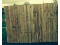 New wooden gates