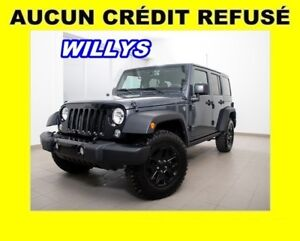 2017 Jeep Wrangler WILLYS WHEELER 4X4 *BAS KM* HIGH GLOSS *WOW!