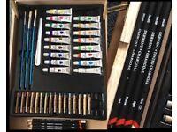 Art case + LOTS of supplies