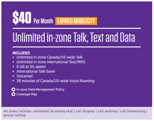 ChatR Wireless 6GB Grandfathered Plan from Mobilicity!! US! $40