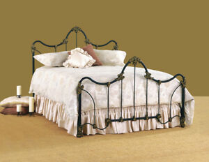Queen Bed, antique iron