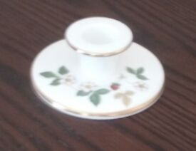 9 Wedgwood bone china ornaments. Wild Strawberry design. Various items and sizes.