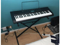 Casio CTK-1150 Electric keyboard with keyboard stand and music notes stand