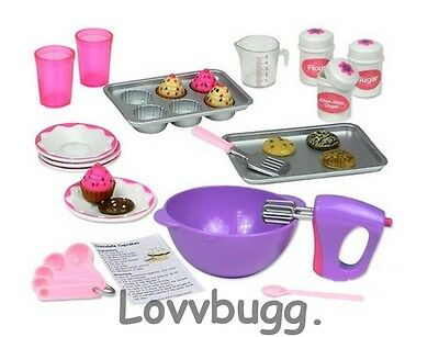 "Lovvbugg Complete Baking Set for 18"" American Girl Doll Food Accessory"
