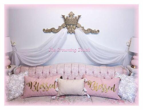 Vintage Style Crown Pediment Romantic Wall Decor Bed Crown Canopy..Color Options