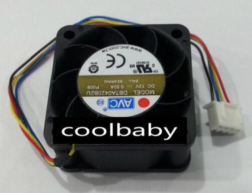 AVC DBTA0420B2U fan 40*40*20mm 12V 0.5A 4Pin