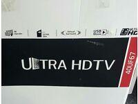 LG 40 INCH 4K SMART LED TV. ULTRA HD 40UF670V