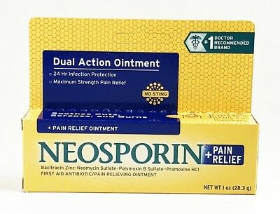 Strength First Aid Antibiotic Ointment - Neosporin Plus Pain Relief Maximum Strength First Aid Antibiotic Ointment 1 oz