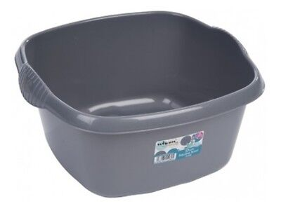 Wham - 32cm Square Plastic Washing Up Sink Bowl - Silver