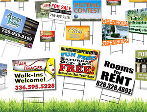BEST CUSTOM LAWN SIGNS - CALL NOW