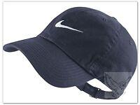NIKE SWOOSH LOGO BASEBALL CAP ADJUSTABLE = NAVY