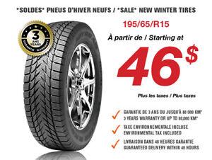 *SOLDES* 195/65/R15 Pneus d'hiver neufs / New Winter Tires