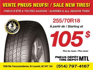*SOLDES* 255/70R18 Pneus d'été neufs / New Summer Tires