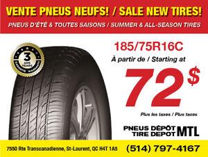*SOLDES* 185/75R16C Pneus d'été neufs / New Summer Tires