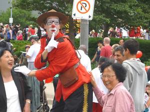 Canada's 1st Floating CLOWN Juggler Mime Chaplin STILtwalker Peterborough Peterborough Area image 7