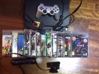 Sony PlayStation 3 PS Plus 320GB Charcoal Black Console with 10 games and 1 film