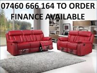334 3 and 2 seater leather recliner sofa