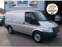 2012 12 FORD TRANSIT 330 SWB LOW ROOF 6 SPEED RWD IN SILVER FULL SERVICE HISTORY