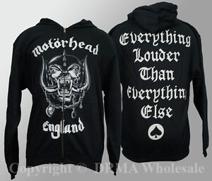 Authentic-MOTORHEAD-England-Zipup-HOODIE-Sweatshirt-S-M-L-XL-XXL-NEW