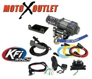kfi 3000 lbs winch kit atv utv steel wire rope cable Winch Solenoid Wiring Diagram Wireless Winch Remote Wiring Diagram