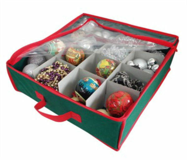 New Christmas Tree Bauble Decorations Storage Box Holds 16