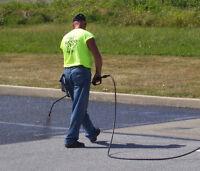Asphalt Driveway Sealing / Crack Repairs