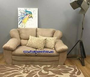 VERY VANILLA SUPER COMFY HIGH BACK SLOUCH COUCH - CAN DELIVER Ashfield Area Preview