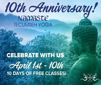 10 Days of FREE Classes for Namaste's 10 Year Anniversary