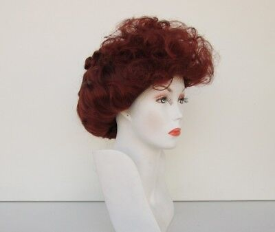 I LOVE LUCY LUCILLE BALL COSTUME WIG FOX RED VICTORIAN GIBSON STYLE CURLY UPDO (Victorian Wig)