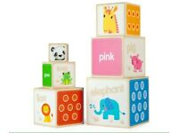 BRAND NEW Tidlo Wooden Rainbow Stacking Cubes RRP £25
