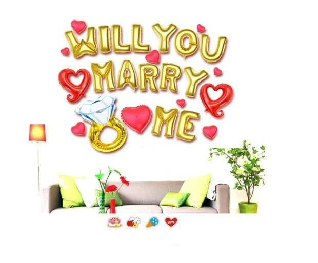 will you marry me letter balloons for wedding proposal decorations