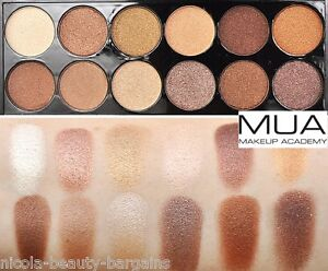MUA Eyeshadow Palette - Heaven And Earth gold brown palette WARM NUDE SHADES