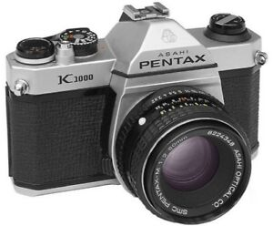 PENTAX K1000 or CHINON (Kodak) CE3 with a 50mm lens