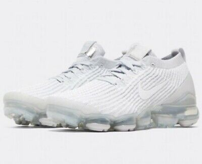 Ladies Nike W Air Vapormax Fly Knit 3 white and platinum size 4.5 UK new boxed