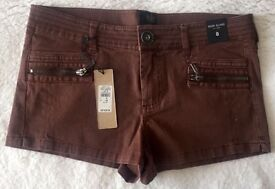NEW - River Island - Shorts size 8 Brown