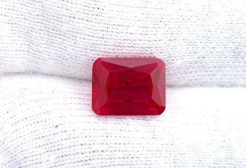 One 10x8 Lab Grown Princess Emerald Cut Ruby Corundum Gem Stone Gemstone EBS3004