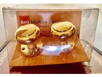 MORTICE KNOBS BNWT POLISHED BRASS