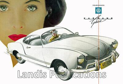 Volkswagen Karmann Ghia - Beautiful 1958 Vintage Poster