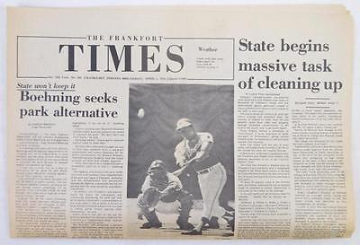 April 5, 1974 newspaper Hank Aaron 714th HR headline Lot 346