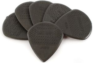 Dunlop 471P3C Carbon Fiber Max-Grip Jazz III Black Guitar Picks 6-Pack