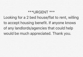 *URGENT* 2 bed house/flat to rent in BANBURY OX16