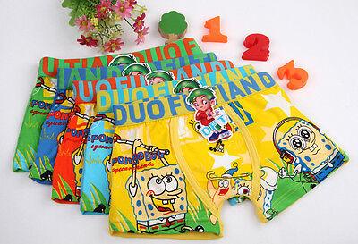 Lot Spongebob cartoon Children cartoon boy cotton underwear Boxer shorts Gift - Spongebob Boy Shorts