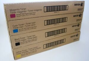 XEROX 700, C75, J75- BRAND NEW GENUINE TONER CARTRIDGES -FULL SET (4) - CMYK