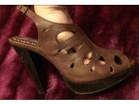 Red Herring size 3 Gladiator sandals heels