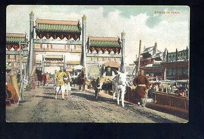 China PEKING Street scene early PPC