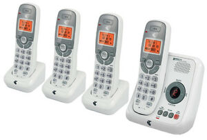 TELSTRA-12250-DECT-DIGITAL-QUAD-4-HANDSET-CORDLESS-PHONE-ANSWERING-MACHINE